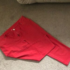 Chicos size 3 red capris